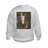 Donkey foal and her mom Sweatshirt