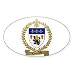 COTTREAU Family Crest Sticker (Oval)
