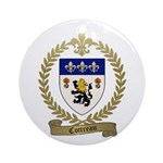 COTTREAU Family Crest Ornament (Round)