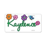 Kaydence Flowers Aluminum License Plate