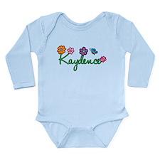Kaydence Flowers Long Sleeve Infant Bodysuit