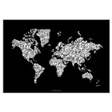 Cute World map Wall Art