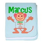 Little Monkey Marcus baby blanket