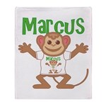 Little Monkey Marcus Throw Blanket