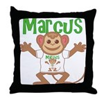 Little Monkey Marcus Throw Pillow