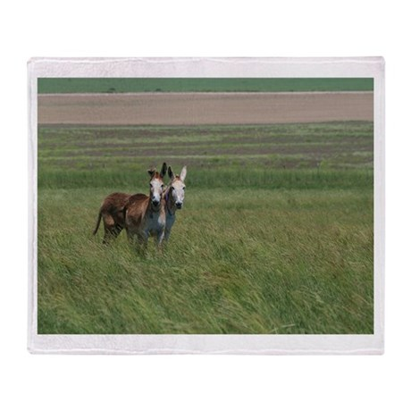 In the field Throw Blanket