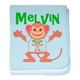 Little Monkey Melvin baby blanket