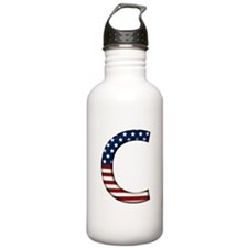 C Stars and Stripes Water Bottle