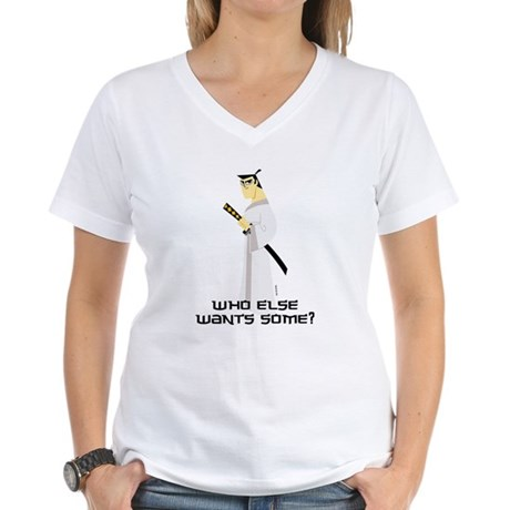 Samurai Jack Womens V-Neck T-Shirt