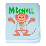 Little Monkey Mitchell baby blanket