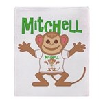 Little Monkey Mitchell Throw Blanket