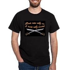 Scimitar Warning Black T-Shirt