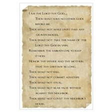 Cute 10 commandments Wall Art