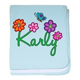 Karly Flowers baby blanket