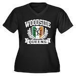 Woodside Queens NY Irish Women's Plus Size V-Neck