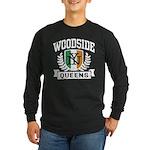 Woodside Queens NY Irish Long Sleeve Dark T-Shirt