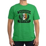 Woodside Queens NY Irish Men's Fitted T-Shirt (dar