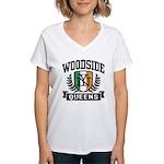 Woodside Queens NY Irish Women's V-Neck T-Shirt