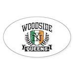 Woodside Queens NY Irish Sticker (Oval)
