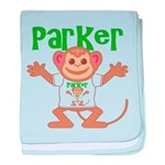 Little Monkey Parker baby blanket