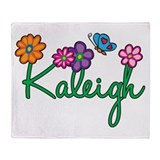 Kaleigh Flowers Throw Blanket