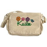 Kailee Flowers Messenger Bag