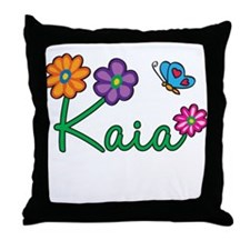 Kaia Flowers Throw Pillow