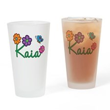 Kaia Flowers Drinking Glass