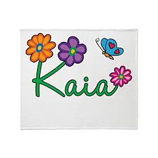 Kaia Flowers Throw Blanket