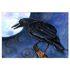 Small Full Moon Crow Raven
