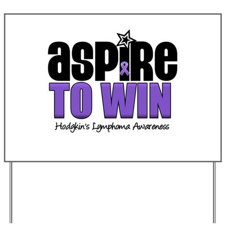 Aspire to Win (HL) Yard Sign