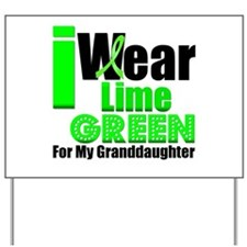 Lime Green Granddaughter Yard Sign