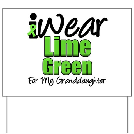 Lymphoma Granddaughter Yard Sign