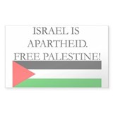 Israel is Apartheid Sticker (Rect)