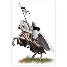 Templar on rearing horse