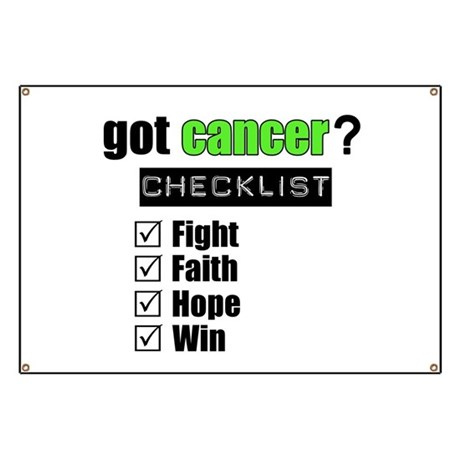 Got Cancer Checklist Banner