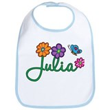 Julia Flowers Bib