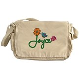 Joyce Flowers Messenger Bag