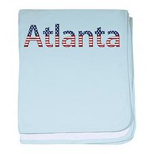Atlanta Stars and Stripes baby blanket