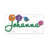 Johanna Flowers Aluminum License Plate
