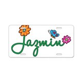Jazmin Flowers Aluminum License Plate