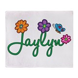 Jaylyn Flowers Throw Blanket