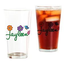 Jayleen Flowers Drinking Glass