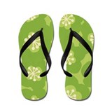 MariMekFlower Green Flip Flops