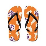 MariMekFlower Orange Flip Flops