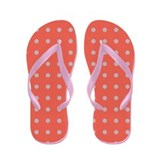 Polka Dots Pink Flip Flops