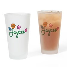 Jaycee Flowers Drinking Glass