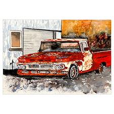 old pickup truck vintage anti