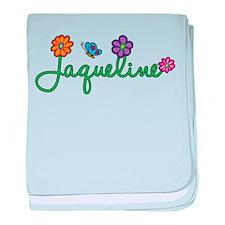 Jaqueline Flowers baby blanket