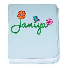 Janiya Flowers baby blanket